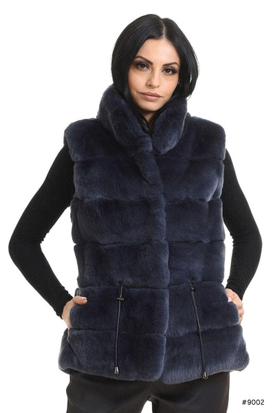 Casual everyday Rex rabbit fur vest - Manakas Frankfurt