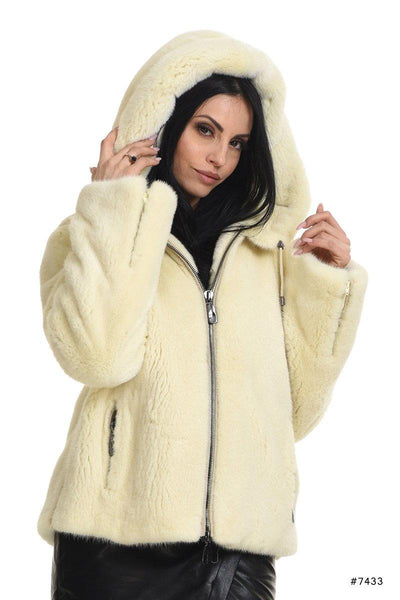 Hooded mink jacket - Manakas Frankfurt
