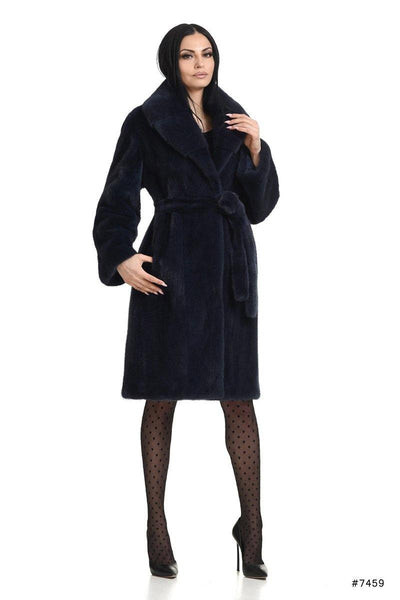 Elegant mink coat with shawl collar - Manakas Frankfurt