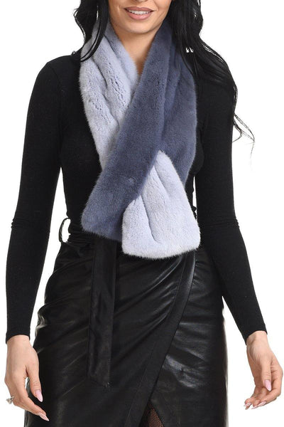 Mink scarf in two colors - Manakas Frankfurt