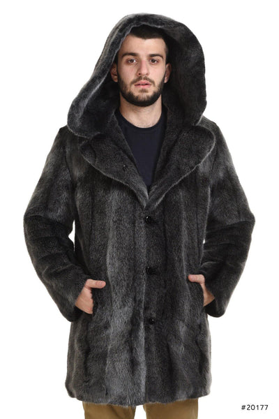 Men's hooded mink coat - Manakas Frankfurt