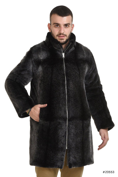 Men's reversible mink and textile coat - Manakas Frankfurt