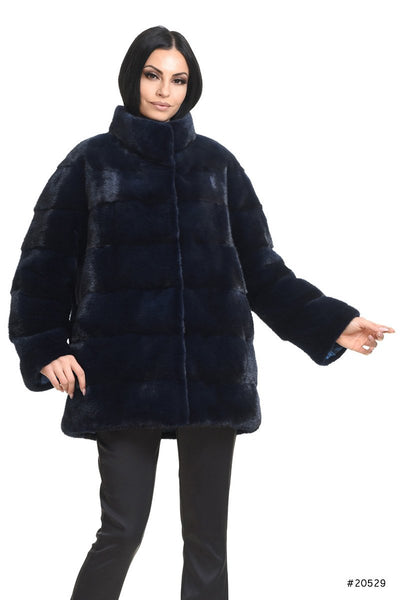 Sportive reversible long mink down jacket - Manakas Frankfurt