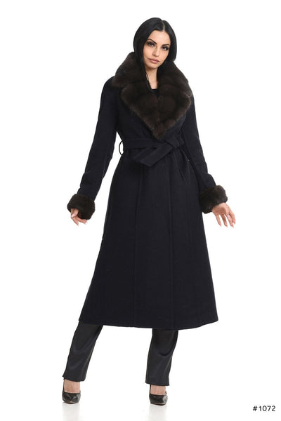 Loro Piana cashmere coat with Sable fur details - Manakas Frankfurt
