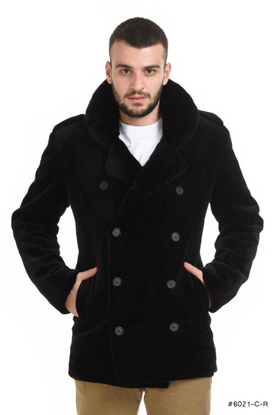 Men's double breasted reversible sheared mink coat - Manakas Frankfurt