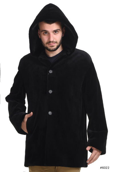 Men's hooded sheared mink jacket - Manakas Frankfurt