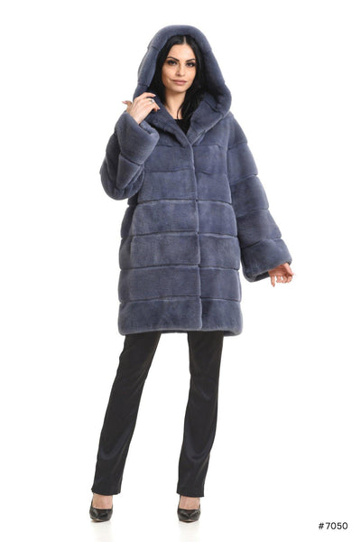 Casual hooded mink coat - Manakas Frankfurt