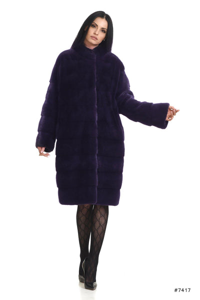 Timeless mink coat with stand up collar - Manakas Frankfurt