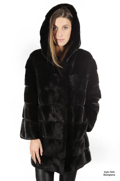 Blackglama hooded coat - Manakas Frankfurt