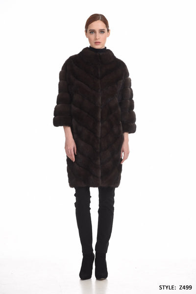 Diagonal basic sable coat - Manakas Frankfurt
