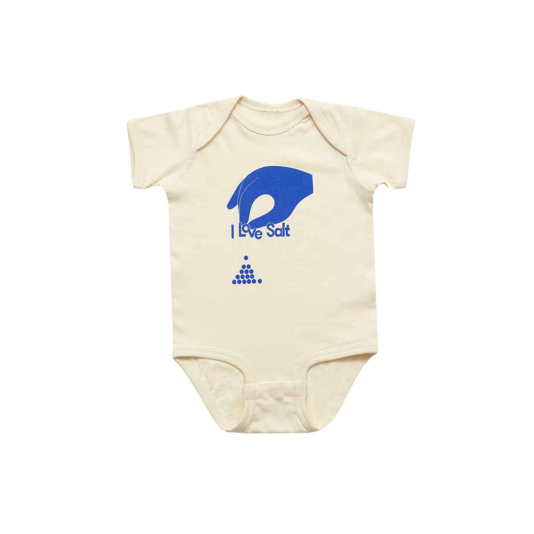 I Love Salt Onesie - Natural / Cobalt Blue