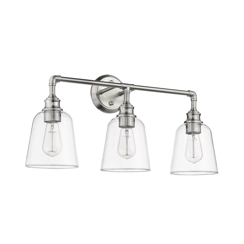 3 light brushed nickel vanity light