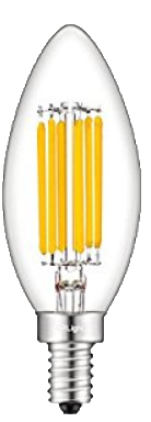 LED-B10-2700K - 4W B10 Torpedo Candle LED Lamp 2700K Dimmable