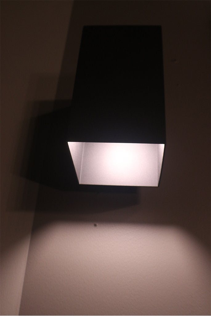 "7-70088 - 10"" Tall Black Outdoor Wall Sconce"