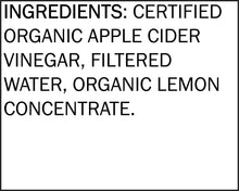 Load image into Gallery viewer, White House Organic Apple Cider Vinegar – Lemon Flavor Inspired