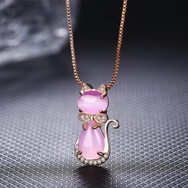 FREE Crystal Opal Cat Pendant Necklace - FLASH OFFER - Necklace