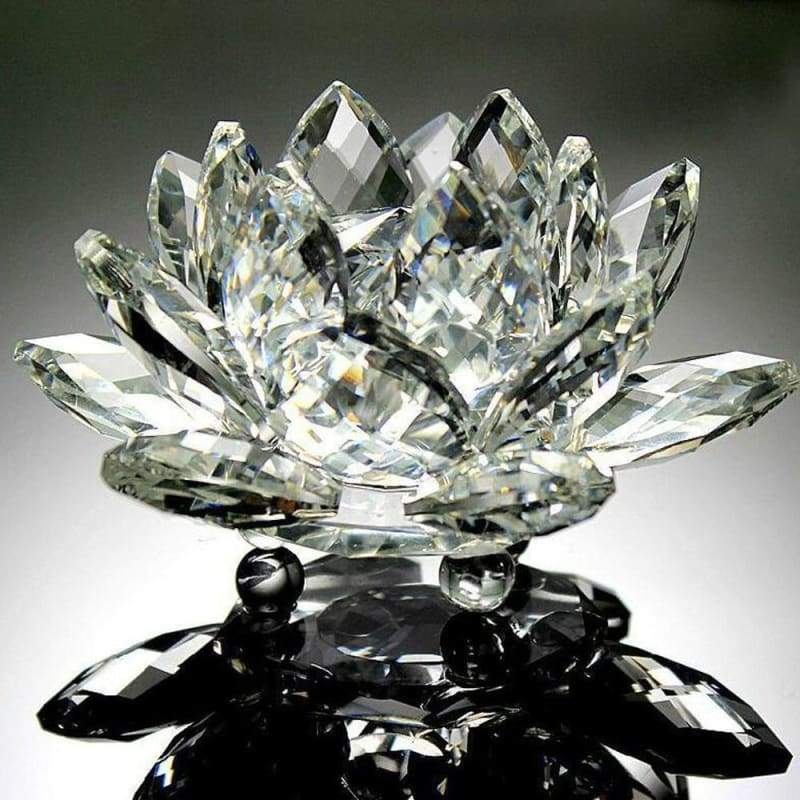 FREE Feng Shui Enlightenment Crystal Lotus - FLASH OFFER - Clear - decor