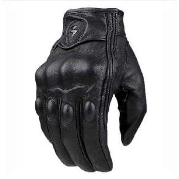 Retro Leather Tactical/Motorcycle Gloves - no perforation / M - gloves