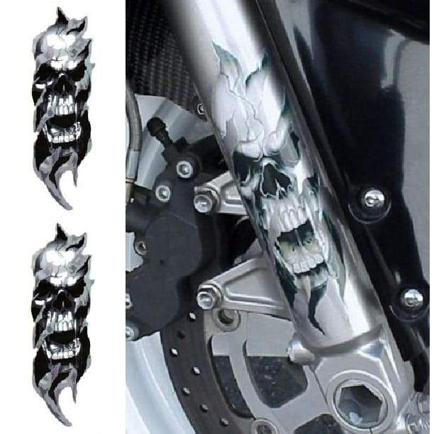Skull Fury Front Fork Decals (Limited Time Offer) - decal