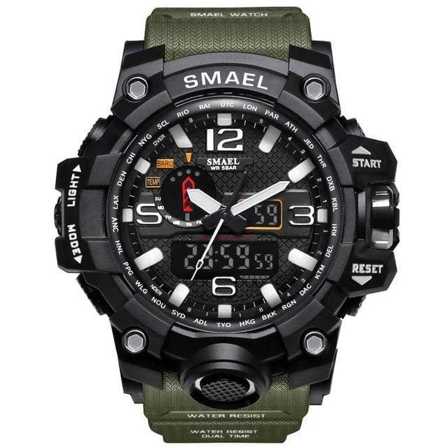 SMAEL Tactical Military Style Watch - Camo Army Green - mens watches