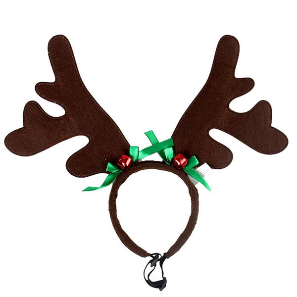 Christmas Pet Headband Deer Horn Hair Hoop Hat Costume Dog Puppy Cat Cosplay Party Product Puppy Festival Accessories