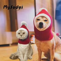 Winter Pet Dog Cap Hat Christmas Warm Small Cat Dog Hats Pug Dog Accessories For Small Medium Large Dogs Man Czapka Dla Psa