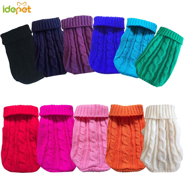 Pet Dog Sweaters Winter Pet Clothes for Small Dogs Warm Sweater Coat Outfit for Cats Clothes Woolly Soft Dog T Shirt Jacket 50
