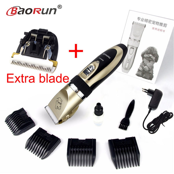 Professional Electrical Rechargeable Pet Cat Dog Hair Trimmer Dog Hair Clipper Grooming Shaver Set Pets Haircut Machine