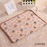 1Pcs coral velvet paw print blanket cat and dog mattress winter blanket warm and soft mattress household pet supplies