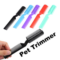 1pc Professional Pet Dog Hair Trimmer Animal Grooming Clippers Cat Cutter Shaver 2 Razor Cutting Combs For Pet Dog Random Color