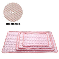 Dog Mat Cooling Summer Pad Mat For Dogs Cat Blanket Sofa Breathable Pet Dog Bed Summer Washable For Small Medium Large Dogs Car