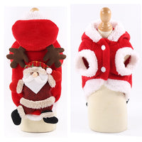 Mosodo Dog Christmas Clothes Pets Clothing Santa Costume New Year Cat Outfits Xmas Deer Hat Puppy Coat Hoodie Party Apparel
