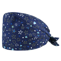 Unisex cotton adjustable scrubs hats Floral print Scrubs cap High Quality beauty salon work hat Tieback Elastic pet grooming cap