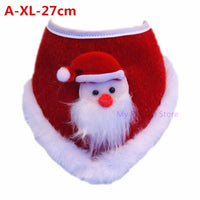 Christmas Dog Cat Plush Scarf Bib Decor Adjustable Collars Pet Dogs Neckerchief Saliva Towel Necklace Grooming Accessories C42