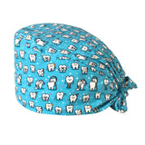 Pet shop grooming scrubs cap cotton Breathable cartoon printing laboratory beauty salon work hat women's Health service work hat