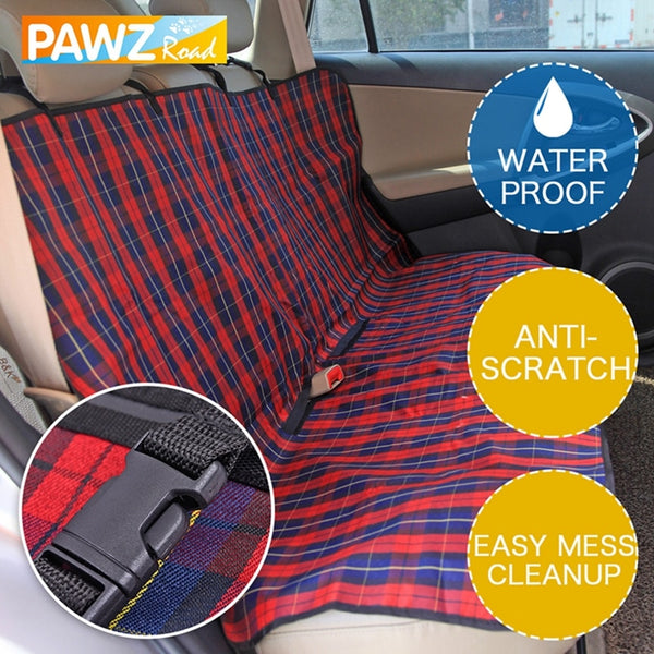 Pet Dog Car Seat Cover Durable Dog Cat Car Hammock Oxford Collapsible Dog Cushion Protector for Travel Car Back Guard Seat Fence
