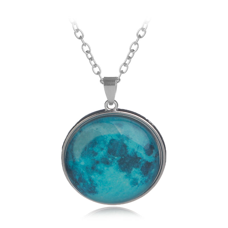 Luminous necklace pendant/Glow in dark necklace/Glow necklace/Glowing moon