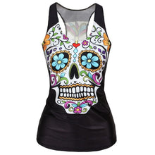 Load image into Gallery viewer, Women's Skull Tank Top