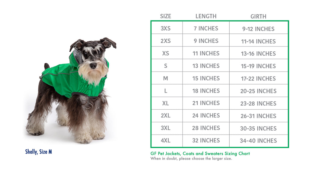 Sizing Chart_Coats Sweaters Jackets Parka_GF PET