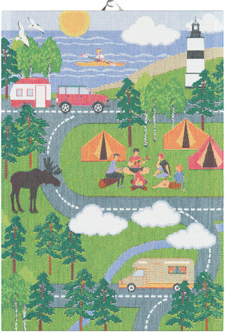 Ekelunds ekologiska handdukar CAMPING MAP SOUTH 35X50 CM
