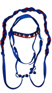 Lakota nylon headstall stars