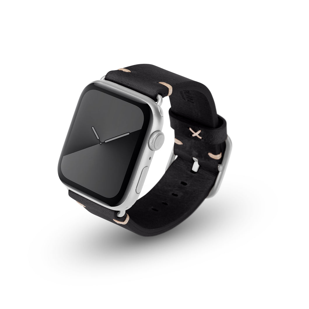 Apple Watchband Alex Vintage black 42-44mm