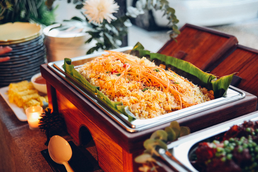 Rice Catering Trays