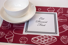 Load image into Gallery viewer, Place Mats - Eat Dessert First
