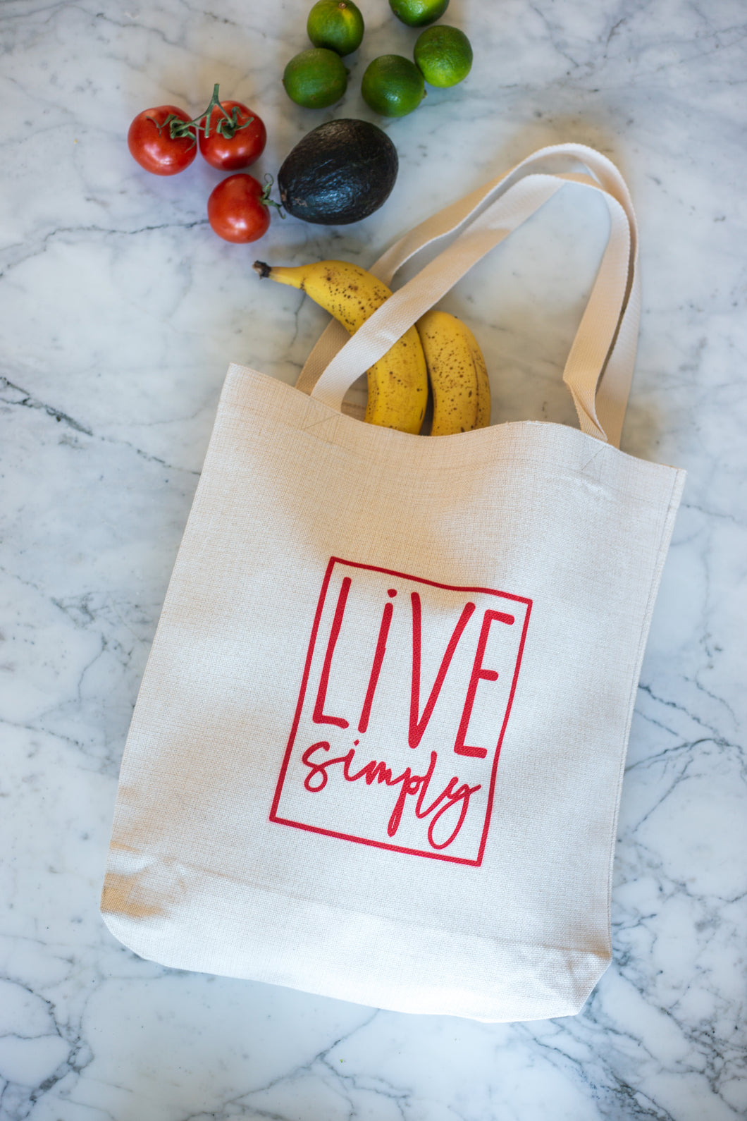 Natural Linen Tote Bag - Live Simply