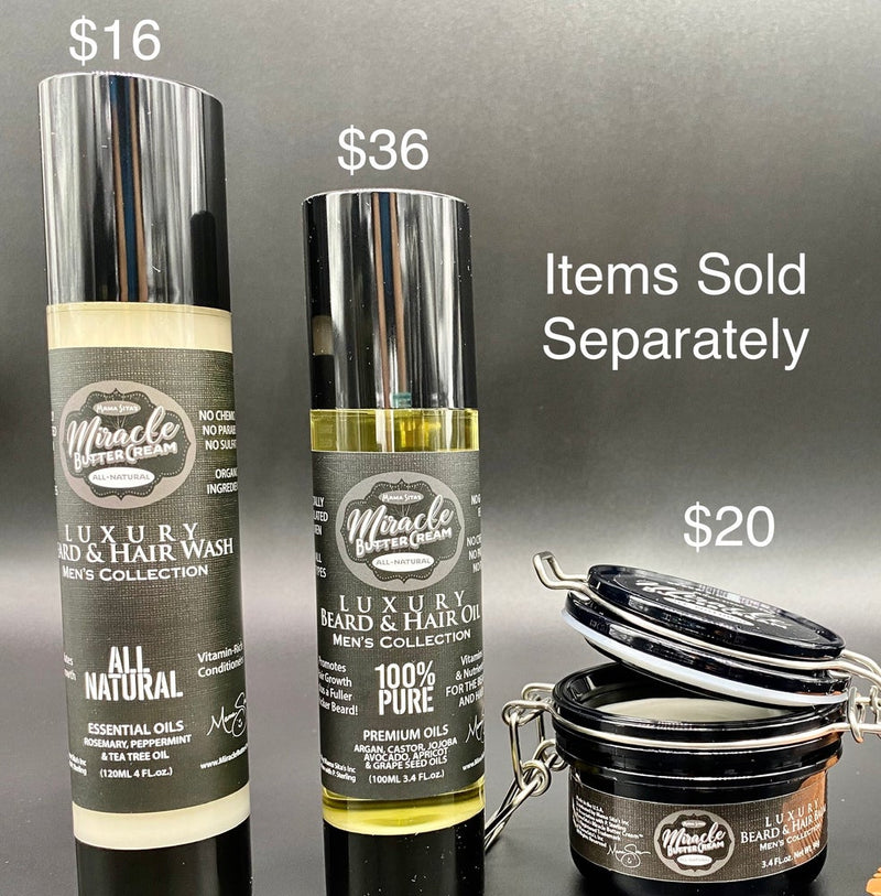Men's Collection Sold Separately  (Beard/Hair Balm) (Shampoo) (Luxe Oil)