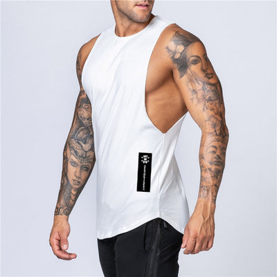 Loose Fit Cotton Stringer Tank Top