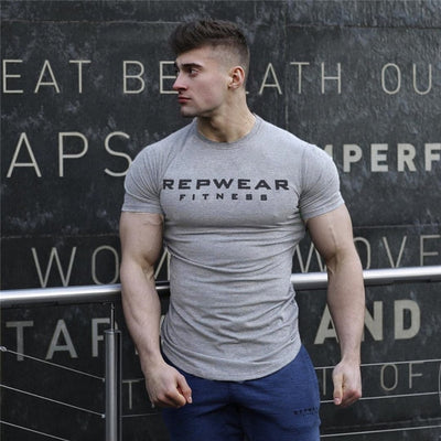 Short Sleeves Cotton Gym T-Shirt