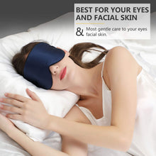 Load image into Gallery viewer, Silk Sleep Mask Blindfold, Adjustable Strap Super-Smooth Soft Eye Mask