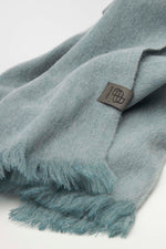 Loading Image into Gallery View, Bufandy - Alpaca Scarf Brushed Solid ash blue | MILD maternity boutique - maternity clothes at Mechelen